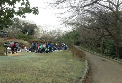Picnic upon Genjiyama Park past Kewaizaka Pass, Kamakura