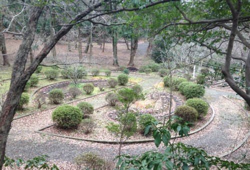 Small shrubberies trimmed around Genjiyama Park, enjoyable after hiking through Kewaizaka Pass from Kamakura station