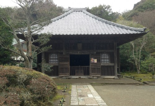 Outlying building inside Kaizō-ji Temple on Kamakura outskirts, Kamakura history