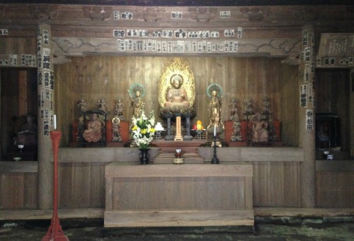 Altar inside Kaizō-ji Temple on Kamakura outskirts, Kamakura history