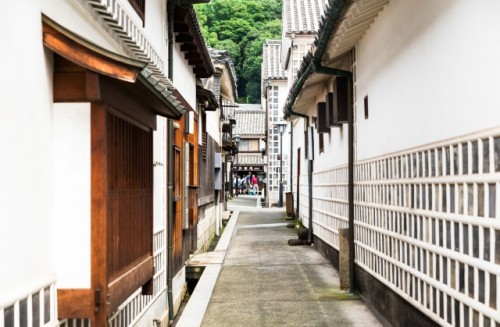 Alley in Kurashiki and various Architecture in Okayama, Japan and Achi Shrine