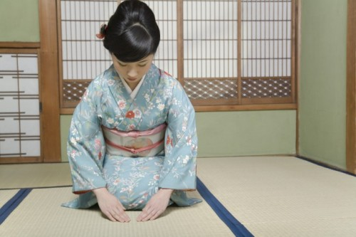 The basic bow etiquette, Japanese greetings