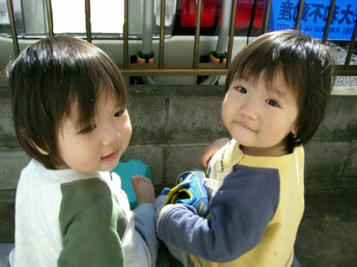 Two Japanese kids who can also be genki in Japanese with just means good Zen or healthy or active.