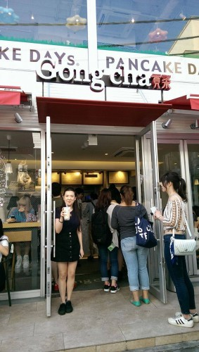 I found the bubble tea shop in harajuku, Tokyo.