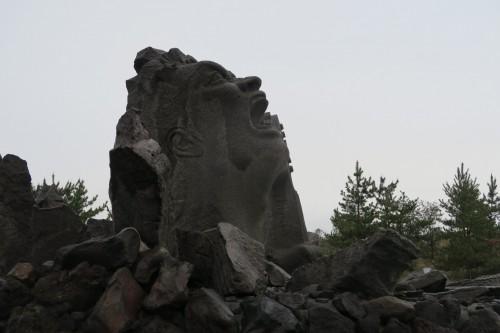 Sakurajima art monument masterwork Portrait of a scream defying Sakurajima island calm