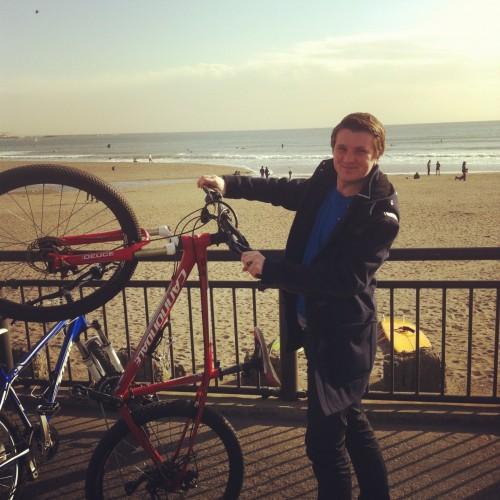 bicycle and Kamakura seaside