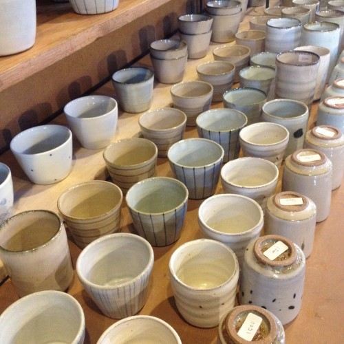 Multiple potteries are displayed here