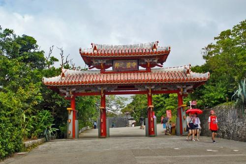 A gate of Shuri Castle