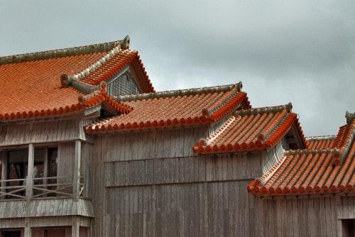 Beautiful roof architecture, Shuri castle