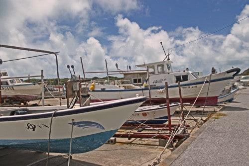 Fishermans boat in Okinawa
