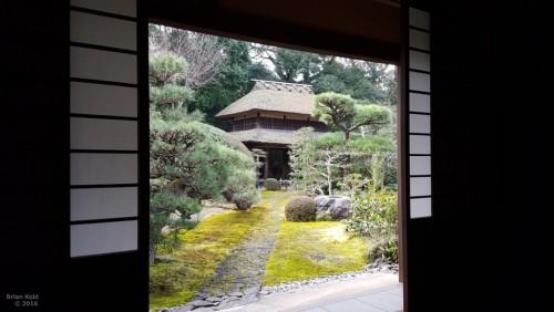 Zen garden of temple