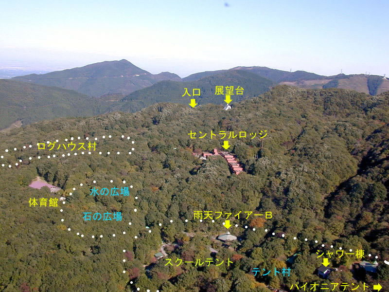 This is the map shoing mountains around here, facilities and campsite