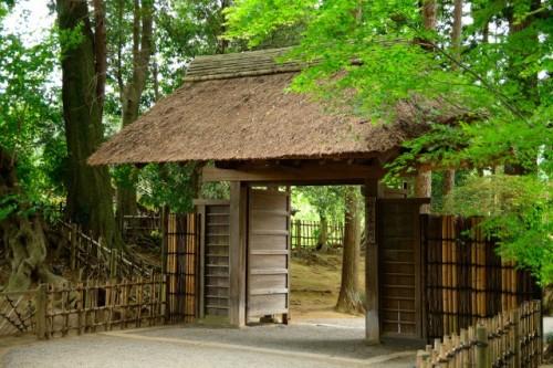 Kairakuen, Japanese garden entrance