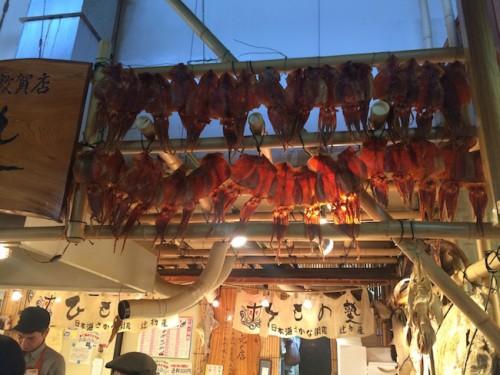 sakana machi squid, the fish market in Fukui