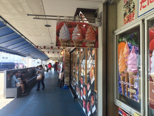 sakana machi ice cream, the fish market in Fukui