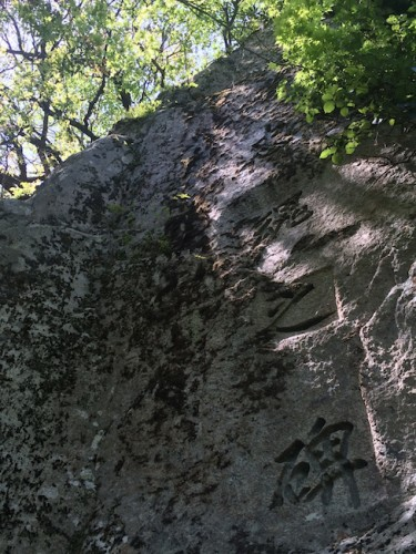 rock carvings letters