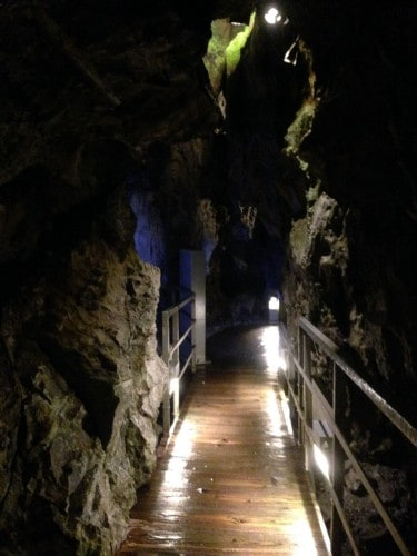 walkway in Ryusendo cave in Iwate