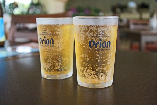 Orion beer is a famous Okinawan beer!