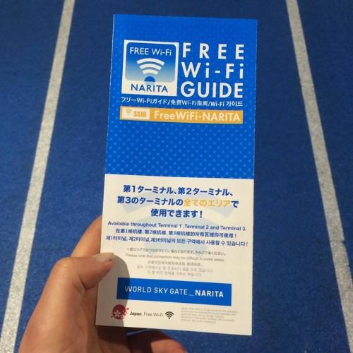 free wifi brochure in Narita airport Japan