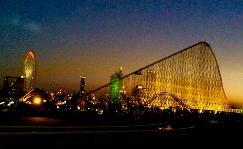 This is the view at the moment of sunset in Nagashima Spa Land