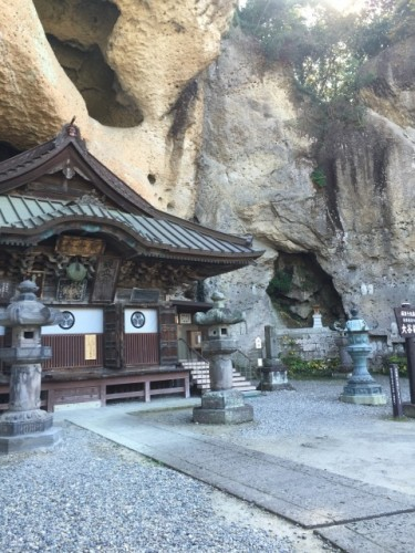 Oya-ji temple is the only temple I have ever seen that has integrated itself among the peculiar glooping Oya stone formation.