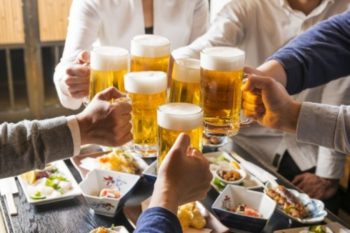 Kanpai , a typical word when Japanese have a toast!