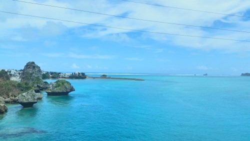 the view from Ikei island where you're surrounded by plenty of nature of this island