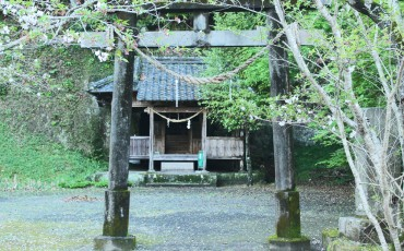 Waterfall shrine in Kagoshima