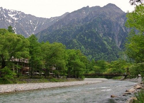 Arriving at Kamikochi, from here you can continue walking up the valley to Myojin Bridge which will take another 1 hr.
