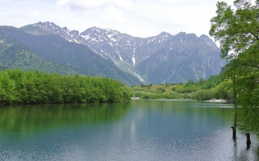 Taisho Pond In Kamikochi, Nagano, is famous for being a mirror pond that reflects the mountains above if you visit at the right time.