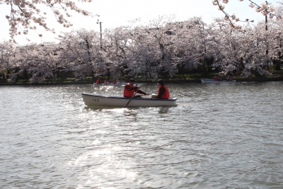 You can enjoy riding a small boat
