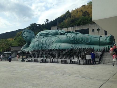 Nagasaki's reclining buddha at Nanzoin Temple