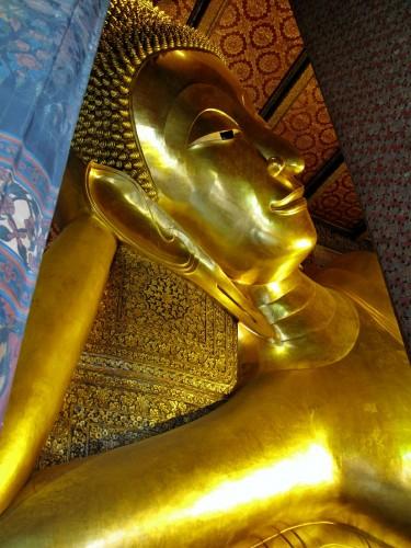 Wat Pho's royal reclining buddha in Bangkok