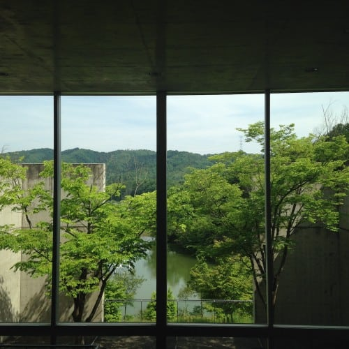 Views from the Ayabe Community Centre in Kyoto