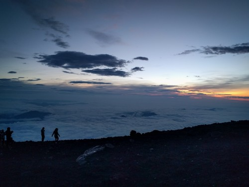 The view from the top of Mt Fuji