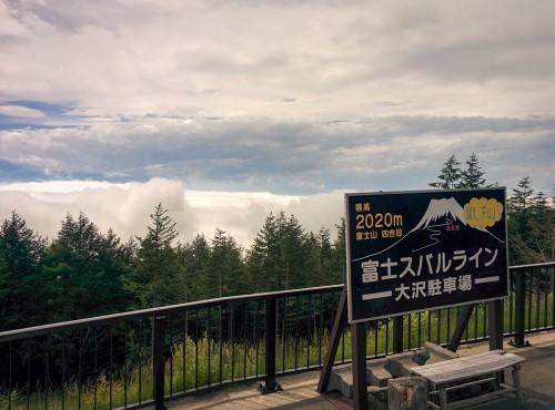 here is parking at peak5, Mt Fuji