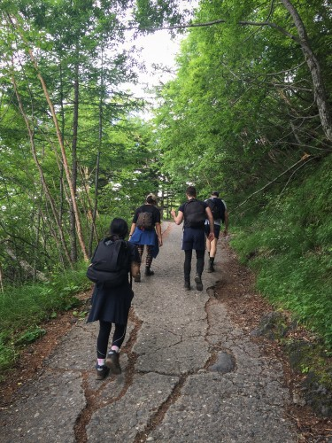 Climbing route to go to the top of Mt Fuji