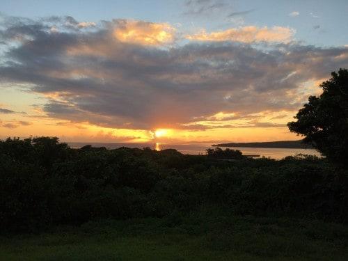 Iriomote Island camp ground sunset in Okinawa