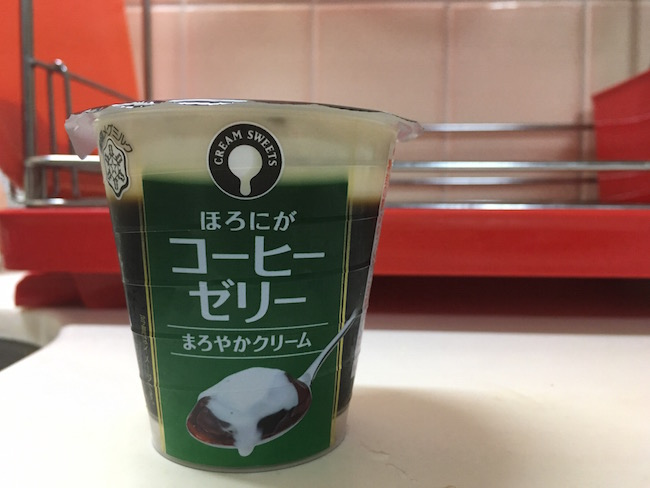 coffee jelly from a japanese convenience store
