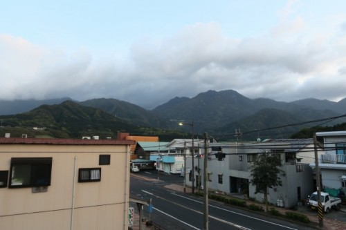 The view from Yakushima main habitant area gave us amazing immpression