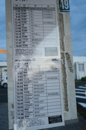 It might be better to check the bus schedule in Yakushima