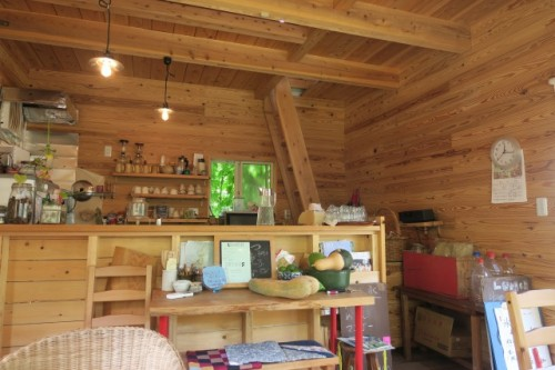 we came to next an amazing, wooden cabin to have a lunch