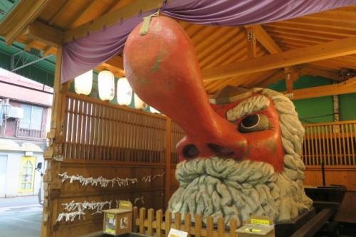 Yayoi Tengu, located down Yayoi dori, is also the unique statue in beppu