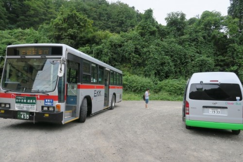 To change to microbus is the must to head for yamakoshi village