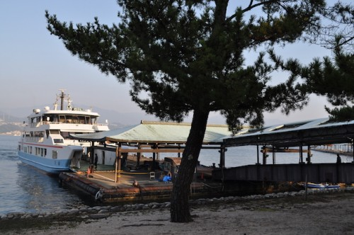 hiroden ferry to and from miyajima