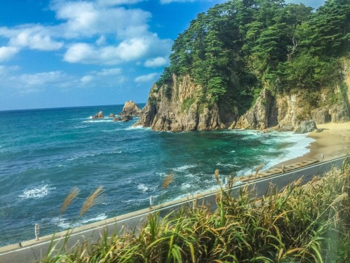 Sea of Japan , beautiful coast