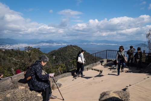 The observation deck at Mount Misen