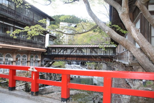The iconic scenery in Shima onsen