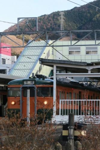 Local train in Nakanojo town