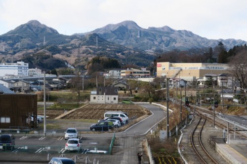 A view from Nakanojo station was stunning!